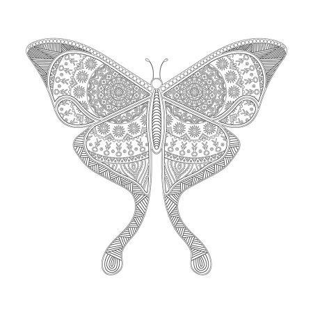 Kelebek Desenli Boyanabilir Tablo resim
