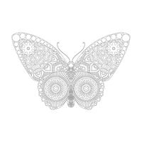 Kelebek Desenli Mandala Tablosu - CM-009