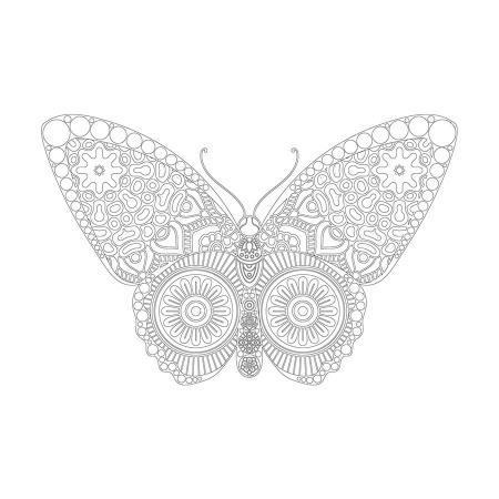 Kelebek Desenli Mandala Tablosu resim