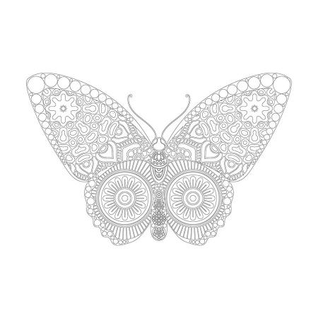 Kelebek Desenli Mandala Tablosu 0