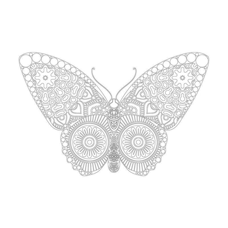Kelebek Desenli Mandala Tablosu Mandala Tablosu Cercevelet Com