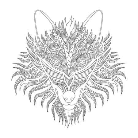Kurt Desenli Mandala Tablosu resim