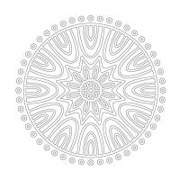 Radyal Desenli Boyanabilir Tablo - CM-005
