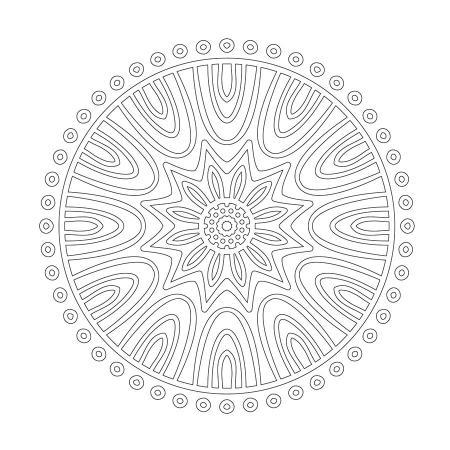 Radyal Desenli Boyanabilir Tablo resim