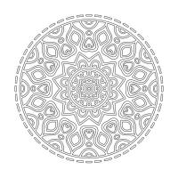 Radyal Desenli Mandala Tablosu - CM-002