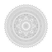 Radyal Desenli Mandala Tablosu - CM-014