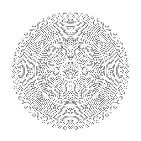 Radyal Desenli Mandala Tablosu 0