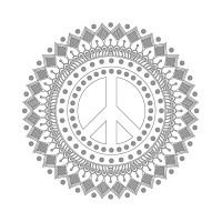 Radyal Desenli Mandala Tablosu - CM-025