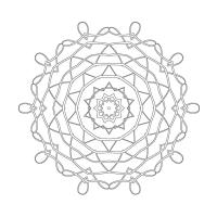 Radyal Desenli Mandala Tablosu - CM-050