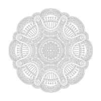 Radyal Desenli Mandala Tablosu - CM-060