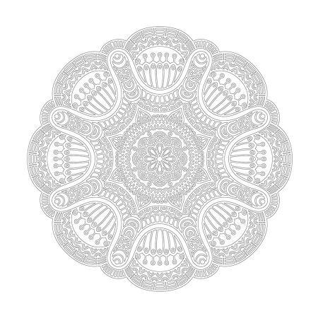 Radyal Desenli Mandala Tablosu resim