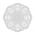 Radyal Desenli Mandala Tablosu k0