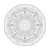 Radyal ve Floral Desenli Mandala Tablosu - CM-046