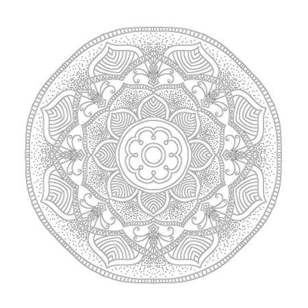 Radyal ve Floral Desenli Mandala Tablosu 0