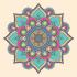 Renkli Çiçek Desenli Mandala Tablosu k0