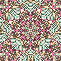 Renkli Floral Mandala Tablosu - CM-004