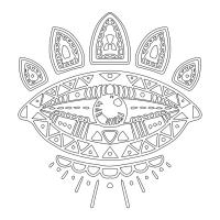 Soyut Desenli Mandala - CM-031