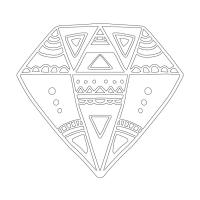 Soyut Desenli Mandala Tablosu - CM-035