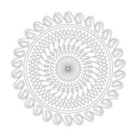 Soyut Desenli Mandala Tablosu - CM-052