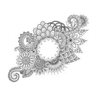 Soyut Desenli Mandala Tablosu - CM-056