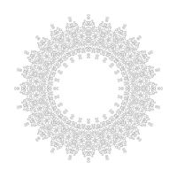 Soyut Desenli Mandala Tablosu - CM-059
