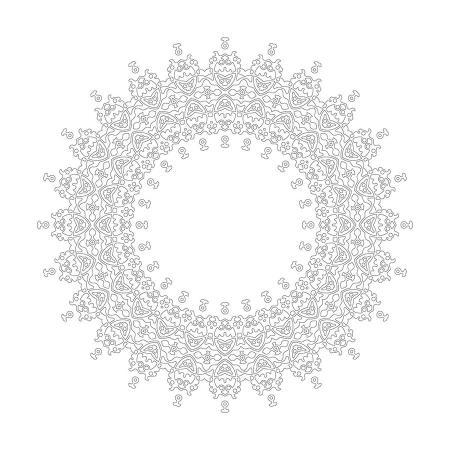 Soyut Desenli Mandala Tablosu resim
