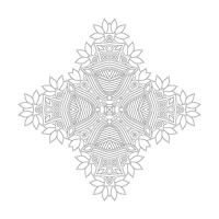 Soyut Desenli Mandala Tablosu - CM-061