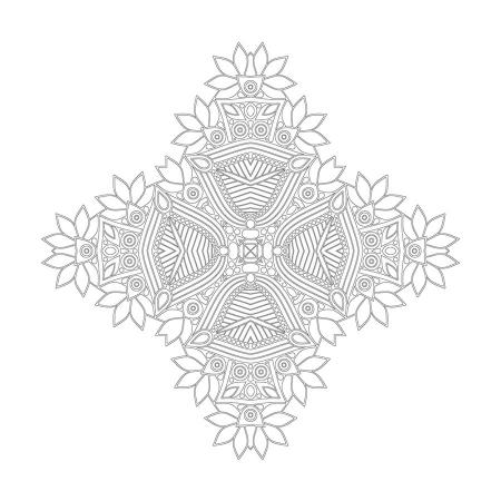 Soyut Desenli Mandala Tablosu 0