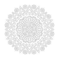 Soyut Desenli Mandala Tablosu - CM-062