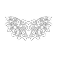 Yarasa Desenli Boyanabilir Duvar Tablosu - CM-039