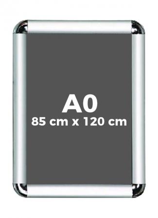 A0 (85 x 120 cm) Açılır Kapanır Alüminyum Çerçeve Rondo Köşe 0