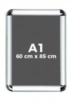 A1 (60 x 85 cm) Açılır Kapanır Alüminyum Çerçeve Rondo Köşe - DAACNG250A1R