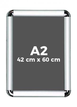 A2 (42 x 60 cm) Açılır Kapanır Alüminyum Çerçeve Rondo Köşe resim