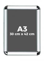 A3 (30 x 42 cm) Açılır Kapanır Alüminyum Çerçeve Rondo Köşe - DAACNG250A3R