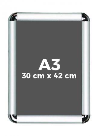 A3 (30 x 42 cm) Açılır Kapanır Alüminyum Çerçeve Rondo Köşe resim