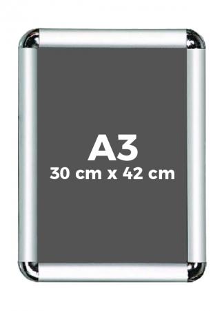A3 (30 x 42 cm) Açılır Kapanır Alüminyum Çerçeve Rondo Köşe 0