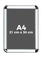 A4 (21 x 30 cm) Açılır Kapanır Alüminyum Çerçeve Rondo Köşe - DAACNG250A4R