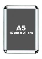 A5 (15 x 21 cm) Açılır Kapanır Alüminyum Çerçeve Rondo Köşe - DAACNR250A5R