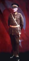 Asker Üniformalı Ayakta Atatürk Tablosu - ATA-C-120