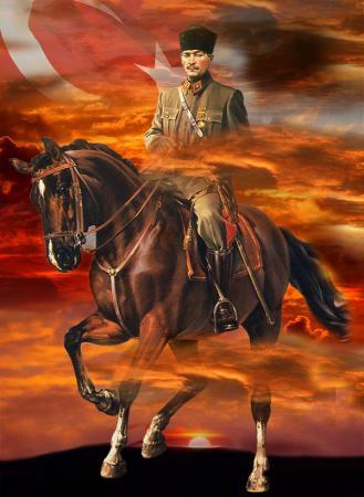 Atatürk At Üzerinde resim