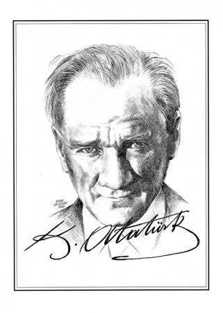 Atatürk İmzalı Tablo  resim
