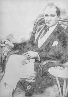 Atatürk Karakalem Tablo - ATA-C-988