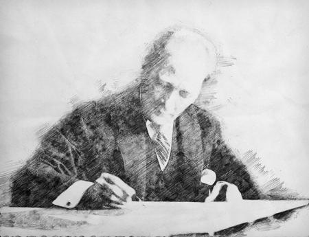 Atatürk Karakalem Tablo 0