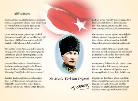 Atatürk Köşesi - İstiklal Marşı 0