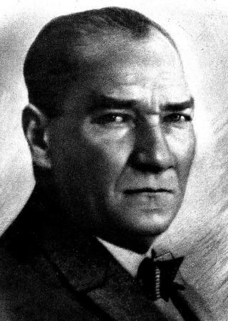 Atatürk Portre Siyah Beyaz resim