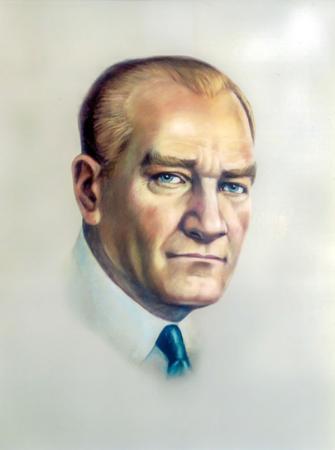 Atatürk Renkli Portre resim