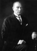 Atatürk Resmi Siyah Beyaz - ATA-C-033