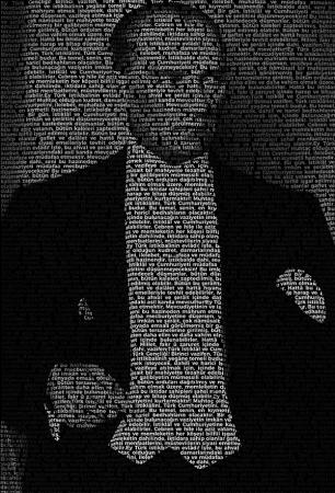 Atatürk'ün Gençliğe Hitabesi Tipografik Tablo resim