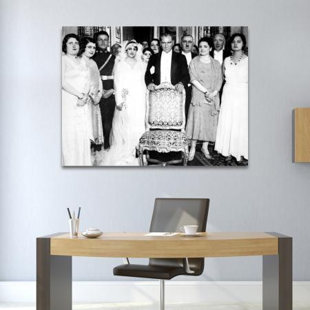Atatürk ve Manevi Kızı Rukiye Hanım'ın Düğün Tablosu resim2