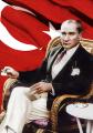 Atatürk ve Türk Bayrağı Tablosu